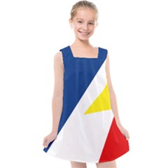Franco Terreneuviens Flag Kids  Cross Back Dress