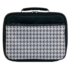 Luv Machine Robot Houndstooth Pattern (grey) Lunch Bag