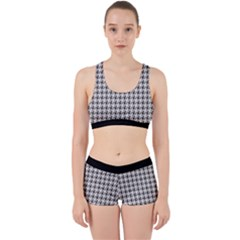 Luv Machine Robot Houndstooth Pattern (grey) Work It Out Gym Set