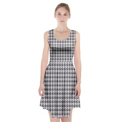 Luv Machine Robot Houndstooth Pattern (grey) Racerback Midi Dress