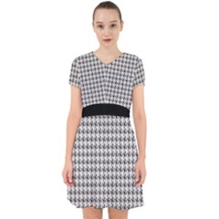 Luv Machine Robot Houndstooth Pattern (grey) Adorable In Chiffon Dress