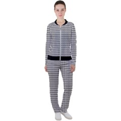 Luv Machine Robot Houndstooth Pattern (grey) Casual Jacket And Pants Set