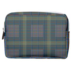 Plaid Pencil Crayon Pattern Make Up Pouch (medium)