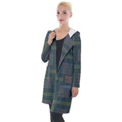 Plaid Pencil Crayon Pattern Hooded Pocket Cardigan by emilyzragz