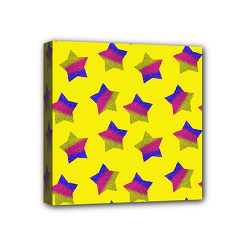 Ombre Glitter  Star Pattern Mini Canvas 4  X 4  (stretched) by snowwhitegirl