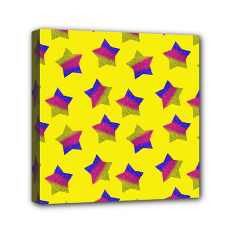 Ombre Glitter  Star Pattern Mini Canvas 6  X 6  (stretched)