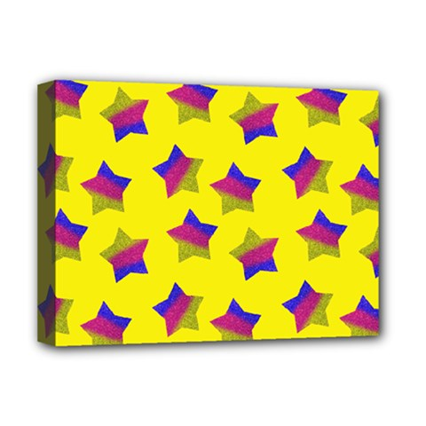 Ombre Glitter  Star Pattern Deluxe Canvas 16  X 12  (stretched)