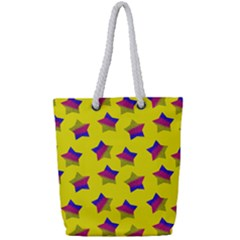 Ombre Glitter  Star Pattern Full Print Rope Handle Tote (small) by snowwhitegirl