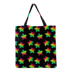 Ombre Glitter Pink Green Star Pat Grocery Tote Bag by snowwhitegirl