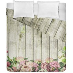 Floral Wood Wall Duvet Cover Double Side (california King Size)
