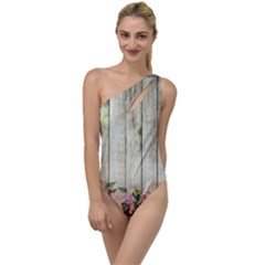 Floral Wood Wall To One Side Swimsuit