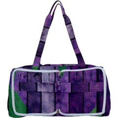 Wood Wall Heart Purple Green Multi Function Bag