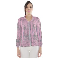Old Pink Wood Wall Windbreaker (women)