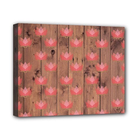 Zen Lotus Wood Wall Canvas 10  X 8  (stretched)