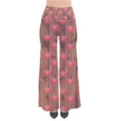 Zen Lotus Wood Wall So Vintage Palazzo Pants