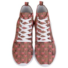 Zen Lotus Wood Wall Men s Lightweight High Top Sneakers
