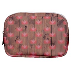 Zen Lotus Wood Wall Make Up Pouch (small)