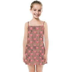Zen Lotus Wood Wall Kids Summer Sun Dress