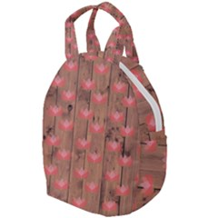 Zen Lotus Wood Wall Travel Backpacks