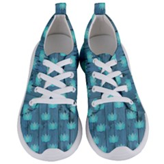 Zen Lotus Wood Wall Blue Women s Lightweight Sports Shoes