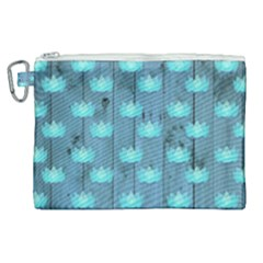 Zen Lotus Wood Wall Blue Canvas Cosmetic Bag (xl)