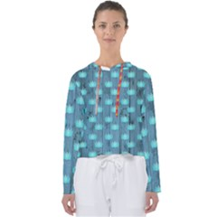 Zen Lotus Wood Wall Blue Women s Slouchy Sweat