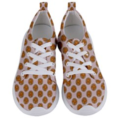 Waffle Polka Dot Pattern Women s Lightweight Sports Shoes