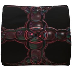 Fractal Red Cross On Black Background Seat Cushion by Jojostore