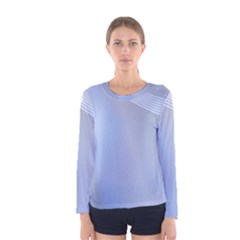 Blue Star Background Women s Long Sleeve Tee by Jojostore