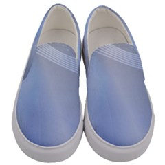 Blue Star Background Men s Canvas Slip Ons