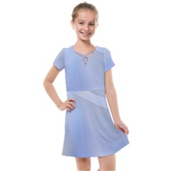 Blue Star Background Kids  Cross Web Dress