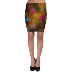 Star Background Texture Pattern Bodycon Skirt