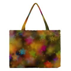 Star Background Texture Pattern Medium Tote Bag