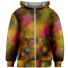 Star Background Texture Pattern Kids Zipper Hoodie Without Drawstring