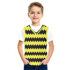 Yellow Black Chevron Wave Kids  Sportswear by Jojostore