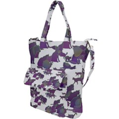 Many Cats Silhouettes Texture Shoulder Tote Bag