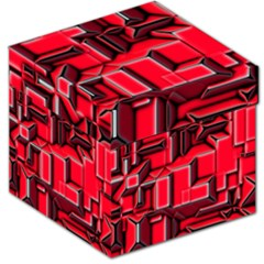 Background With Red Texture Blocks Storage Stool 12   by Jojostore