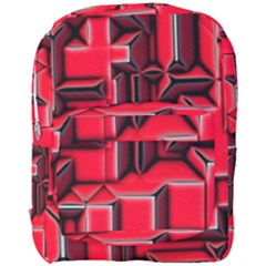 Background With Red Texture Blocks Full Print Backpack