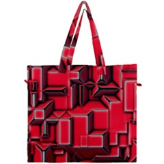 Background With Red Texture Blocks Canvas Travel Bag
