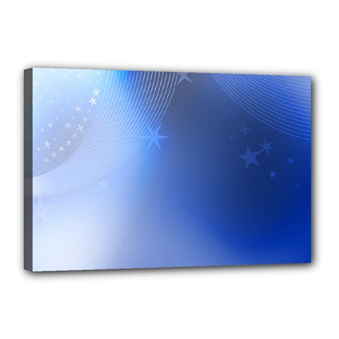 Blue Star Background Canvas 18  X 12  (stretched) by Jojostore