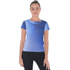 Blue Star Background Short Sleeve Sports Top