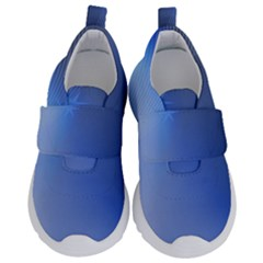 Blue Star Background Velcro Strap Shoes by Jojostore