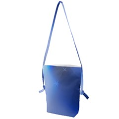 Blue Star Background Folding Shoulder Bag by Jojostore
