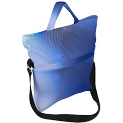 Blue Star Background Fold Over Handle Tote Bag by Jojostore