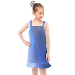 Blue Star Background Kids  Overall Dress by Jojostore
