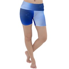 Blue Star Background Lightweight Velour Yoga Shorts by Jojostore