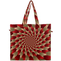 Fractal Red Petal Spiral Canvas Travel Bag by Jojostore