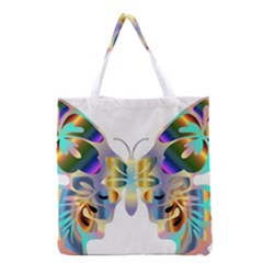 Abstract Animal Art Butterfly Copy Grocery Tote Bag