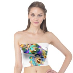 Abstract Animal Art Butterfly Copy Tube Top