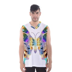 Abstract Animal Art Butterfly Copy Men s Basketball Tank Top